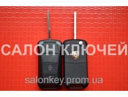 Ключ Porsche выкидной 3 кнопки. 434Mhz id46.