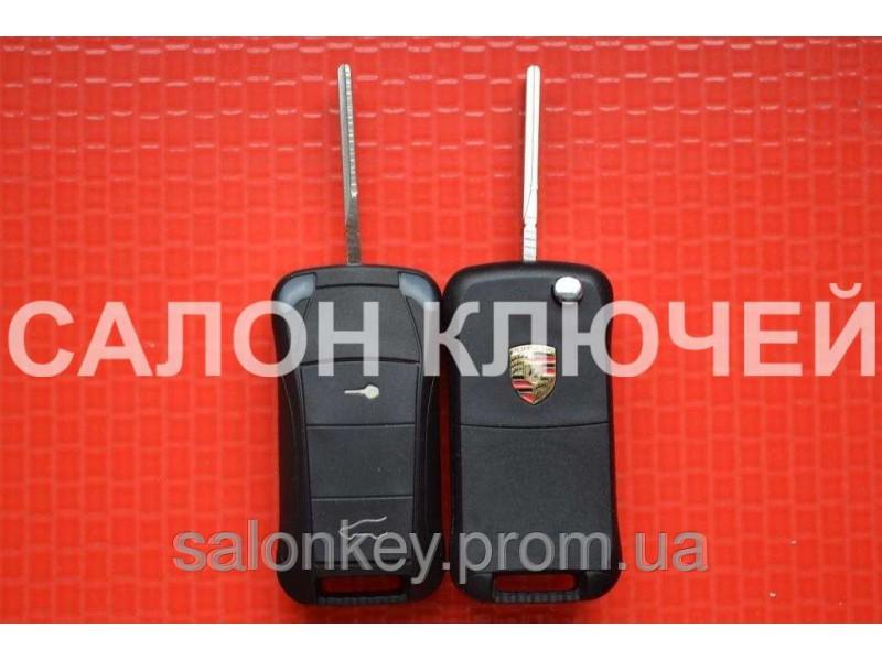 Ключ Porsche выкидной 2 кнопки. 434Mhz id46.