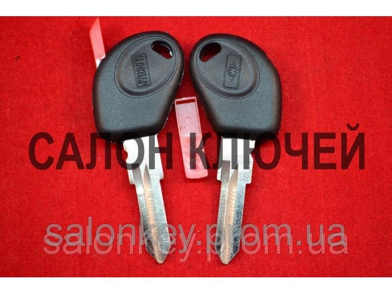 Fiat doblo, ducato, scudo, punto, fiorino ключ с местом под чип лезвие FI15 вид №1