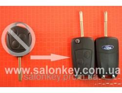 Ключ выкидной Ford 3 кнопки, для переделки из не выкидного ключа Лезвие HU101 Вид №3