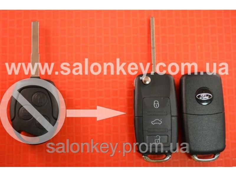 Выкидной ключ Ford 4D 434MHZ лезвие HU101 Вместо 3 кнопочного не выкидного Вид №3
