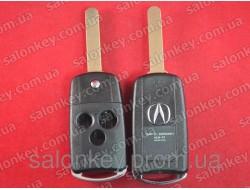 Выкидной ключ Acura 3 кнопки корпус