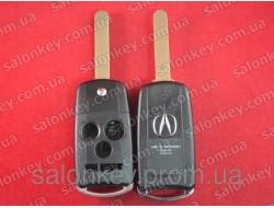 Acura выкидной ключ 3+1 кнопки корпус. Хорошего качества