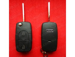 Выкидной ключ Audi 2 кнопки под батарейки 2032