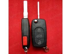 AUDI выкидной ключ 3+1 кн Под батарейку 2032 Без электроники.