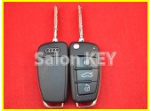 Ключ выкидной AUDI 3 кнопки 868MHz ID8E 4F0837220R / 4F0837220D