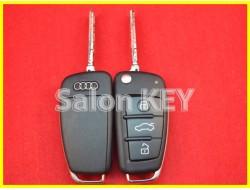 Ключ выкидной AUDI A6 Q7 3 кнопки 868MHz id8E