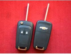 Корпус выкидного ключа Chevrolet Сruze, Aveo оригинал 2 кнопки