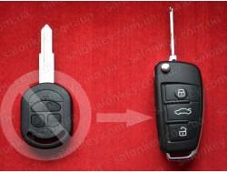 Ключ Chevrolet Lacetti улучшенный выкидной (Польша) 433Mhz 4D вид AUDI