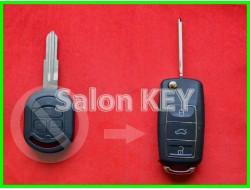 Ключ Chevrolet Lacetti улучшенный выкидной (Польша) 433Mhz 4D вид Volkswagen