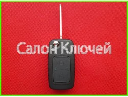 Ключ выкидной ZAZ Forza 2 кнопки 434Mhz ID46.
