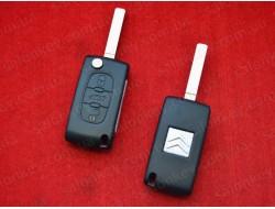 Ключ выкидной Citroen 3 кнопки (0523) PCF7941 ID46 433Mhz ASK