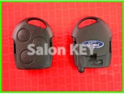 Корпус ключа Ford 3 кнопки чёрный