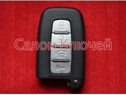 Смарт ключ Hyundai 4 кнопки ID46 PCF7952 433Mhz FSK