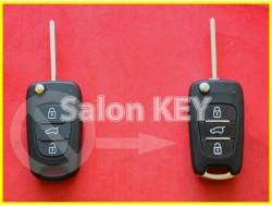 Улучшенный корпус ключа Hyundai для переделки из выкидного 3 кнопки