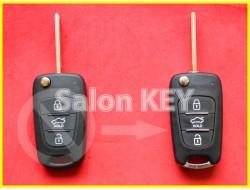 Улучшенный корпус ключа HYUNDAI для переделки из выкидного 3 кнопка HOLD