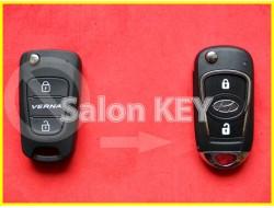 Улучшенный выкидной корпус ключа HYUNDAI VERNA для переделки из выкидного 2 кнопочного