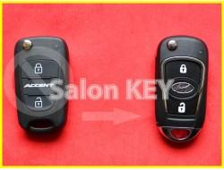 Улучшенный выкидной корпус ключа HYUNDAI ACCENT для переделки из выкидного 2 кнопочного
