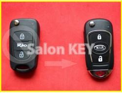 Улучшенный выкидной корпус ключа KIA RIO для переделки из выкидного 2 кнопочного