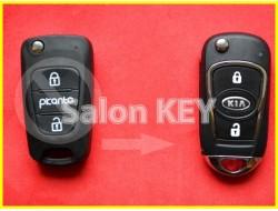 Улучшенный выкидной корпус ключа KIA PICANTO для переделки из выкидного 2 кнопочного