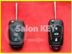 Улучшенный выкидной корпус ключа KIA для переделки из выкидного 3 кнопка HOLD