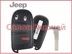 Смарт ключ Jeep Compass USA 17-19 3 кнопки (ORIGINAL)