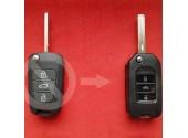 Корпус выкидного ключа KIA для ремонта выкидного ключа на 3 кнопки вид Акрил