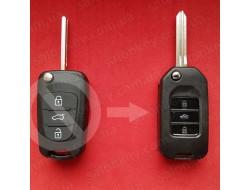 Kia sorento, magentis, rio выкидной ключ для переделки 3 кнопки Вид Акрил