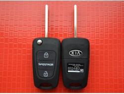 Kia ключ выкидной 3 кнопки корпус для оригинала средняя (Sportage)