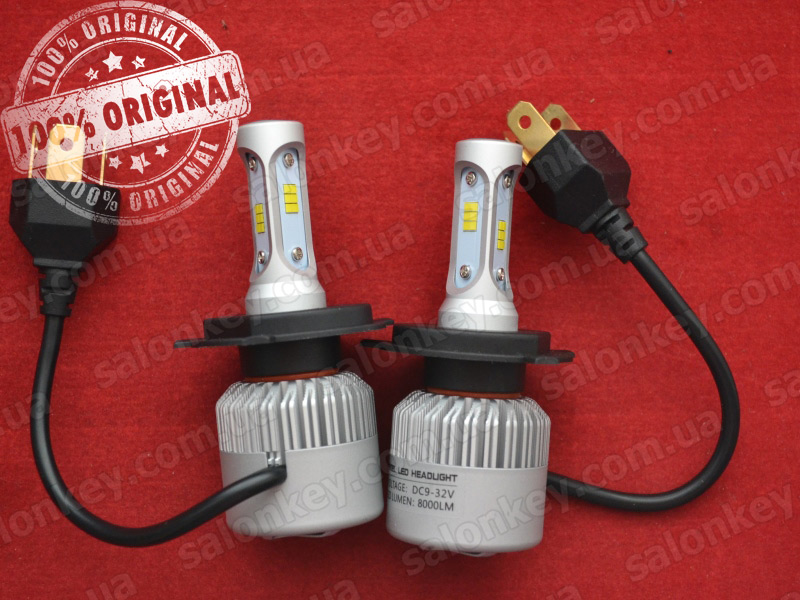 LED HeadLight S2 H4 автомобильные лед лампы 36W 16000Lumen