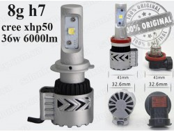 G8 H7 LED HeadLight 6500K/12000LM