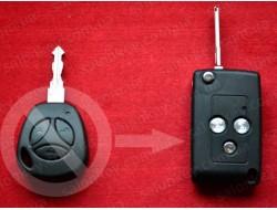 Ключ lada kalina priora выкидной Вид Carbon PCF7941 433Mhz