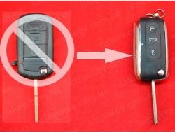 Ключ выкидной хром LAND ROVER для переделки из обычного выкидного