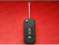 Выкидной ключ Mazda 3 кнопки ID63 433Mhz Simens VDO 5WK43449D Лицензия
