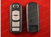 Mazda smart ключ корпус 4 кнопки. Батарейка в центре