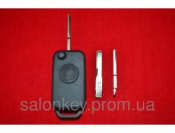 Ключ Mercedes W140, W210 выкидной корпус 1 кн. Лезвие HU64