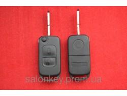 Выкидной ключ Mercedes корпус 2 кнопки. Лезвие HU39 без логотипа