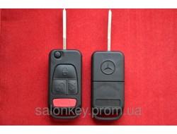 Mercedes ML ключ выкидной 3+1 кнопки корпус. Лезвие HU64 Без стекла