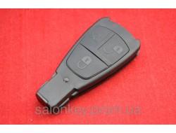 Mercedes C class, E class, W210 ключ корпус 3 кн. Большая рыбка без логотипа