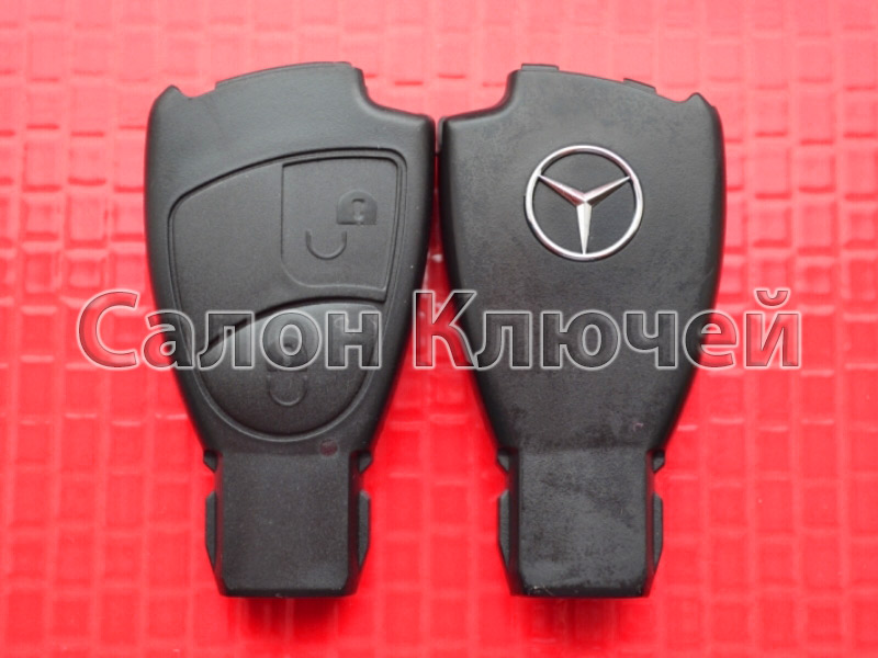 Корпус для ключа Mercedes Benz 2 кнопки без места под батарейку