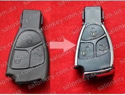 Ключ Mercedes для модификации 3 кнопки
