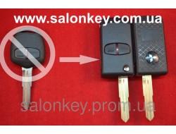 Выкидной ключ Mitsubishi outlander, lancer, grandis на 2 кнопки вид Men Style