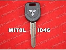 Ключ с транспондером Mitsubishi лезвие на ключе MIT8L чип ID46