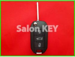 Корпус выкидного ключа Peugeot нового образца (ORIGINAL)