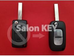 Корпус ключа Peugeot для переделки из 2 кнопочного