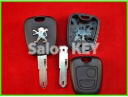 Корпус ключа Peugeot 2 кнопки лезвие NE72 (ORIGINAL)