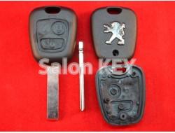 Корпус ключа Peugeot 2 кнопки лезвие HU83 (ORIGINAL)