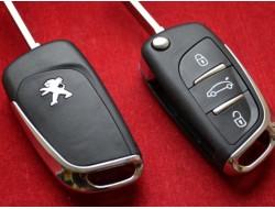 Выкидной ключ Peugeot нового образца 3 кнопки (0523) ASK или FSK