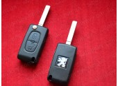 Выкидной ключ Пежо 207 (key peugeot 207) 2 кнопки 2004-2009