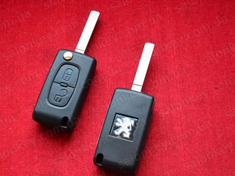 Peugeot 207 2 Button Remote Key (2004 - 2009)